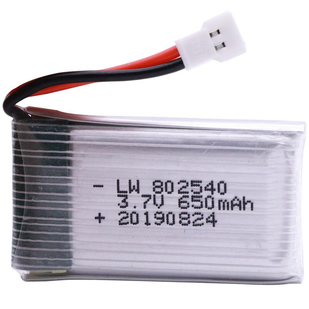 3.7V 650mAh Lipo Battery For Syma X5 X5C X5C-1 X5SC X5SW X6SW H9D H5C M68 FY550 HJ818 HJ819 L15FW 3.7V RC Drone Batteries 802540