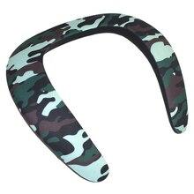 Wireless Bluetooth Speaker Wearable Ring Necking Collar Halter Mini phone Portable 3D Bluetooth Speaker for Sport-Camouflage