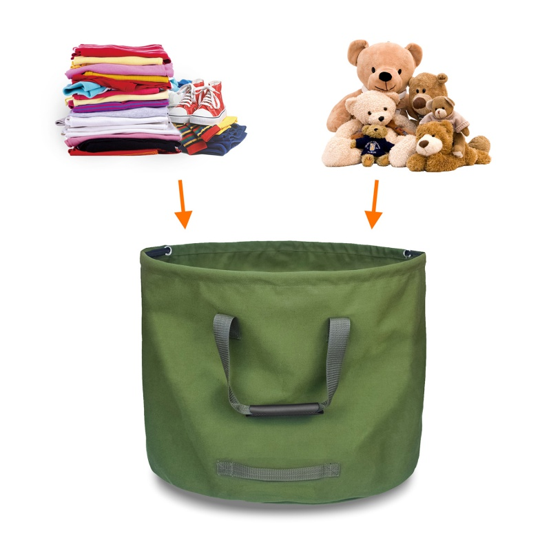 Large Capacity Outdoor Home Garbage Storage Bag Durable Reusable Garden Leaf Garbage Bag Yard Waste Bag