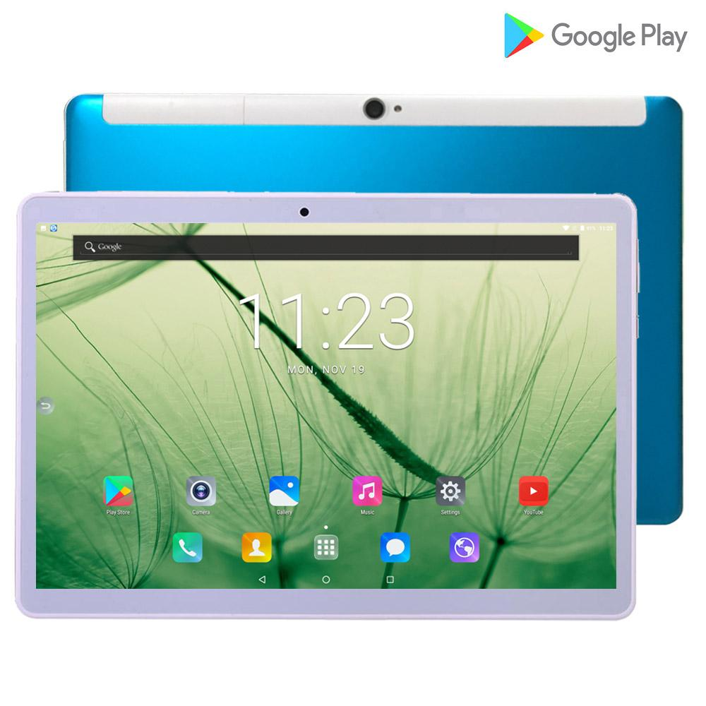 Newest 10.1 Inch Tablets PC 4G-LTE 2.5D Tempered Glass 5000mAh Android 8.0 OS  Wifi 6GB RAM 128GB ROM IPS Octa Core Tablet 10.1