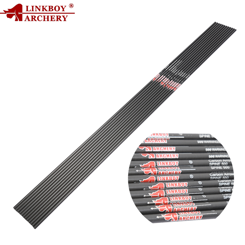 Linkboy Archery Pure Carbon Arrows Shaft Spine400-900 ID4.2mm Recurve Bow And Arrows Hunting Shooting 6PCS/12PCS/a Lot