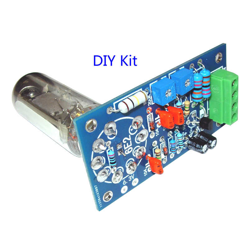 6E2 أنبوب مكبر للصوت مجلس الصوت VU مستوى الطاقة لوحة للقيادة مؤشر حجم الصفراء Preamp إشارة لهجة فراغ لتقوم بها بنفسك مجموعات