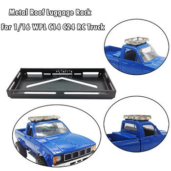 Metal Roof Luggage Rack Carrier-Part For 1/16 WPL C14 C24 RC Crawler Truck Accessories Kids toys Juguetes brinquedos игрушки image