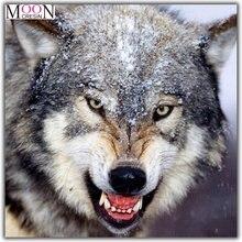 Животные 5d diy Алмазная картина Волк тигр полный квадрат/круглая