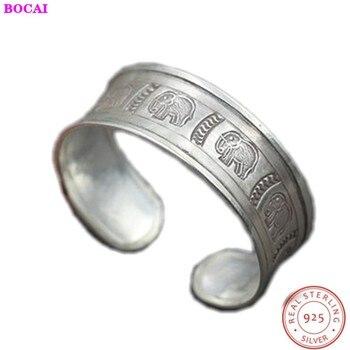 Thai silver women's bracelet  retro s925 sterling silver elephant wide female bracelet original ethnic style s925 pure silver