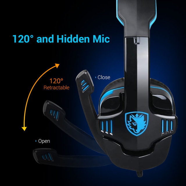 Sades SA901 Gaming Headset 7.1 surround USB Headphone with Microphone Noise Cancelling Mic for Computer Laptop PC Gamer 2
