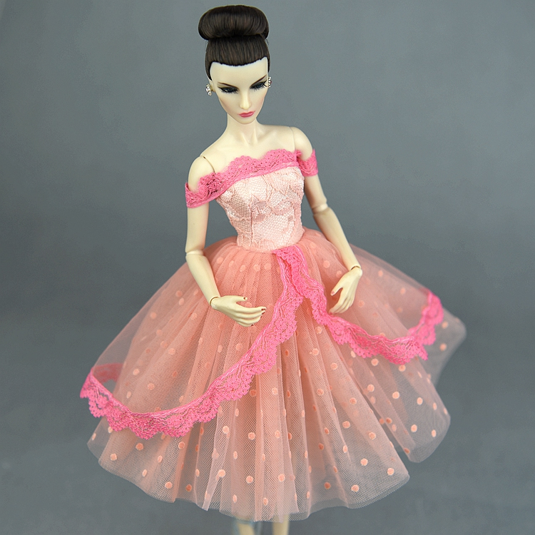 1 Pcs Case For Barbie Clothes 1/6 Bjd Party Gown Wedding Dress Up Doll Clothing Princess Skirt Fashion Outfit House Accessories