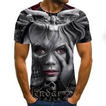 camiseta de manga corta para hombre, camiseta informal con estampado de zombis en 3D, camiseta estampada por completo 2020