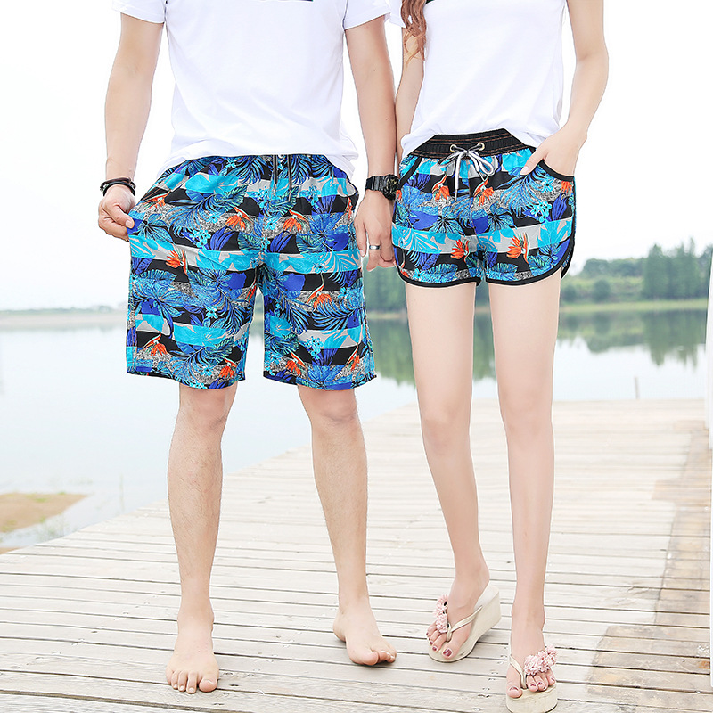Manufacturers Direct Selling Quick-Dry Beach Shorts Men Loose And Plus-sized Couples Beach Summer Holiday Shorts Swimming Large