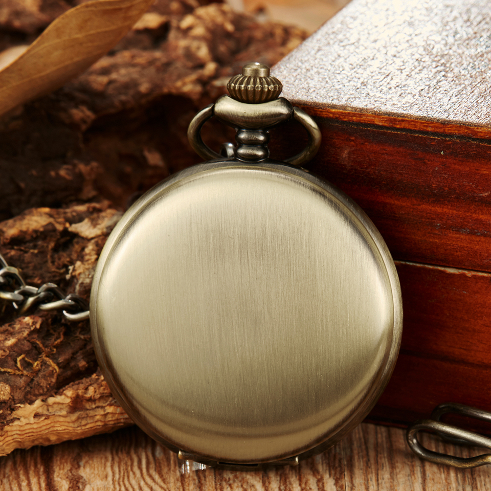 Luxury Smooth Case Mechanical Pocket Watch Men Roman Numerals Watch Steampunk Skeleton Unique Hand Wind FOB Pocket Watch Chain