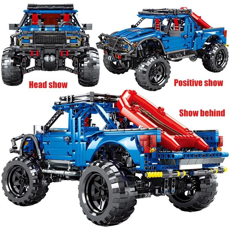 2020 novo sembo bloco 1630 pçs cidade tijolos de carro controle remoto legoing técnica rc caminhões captador modelo blocos de construção brinquedos para crianças - 6