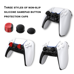 Image 4 - غطاء وحدة تحكم PS5 ، عصا تحكم تناظرية غير قابلة للانزلاق لـ PlayStation5 ، هزاز سيليكون 6 في 1 مع قبعة عالية ، ملحقات
