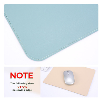 Double-side Portable Large Mouse Pad Gamer Waterproof PU Leather Suede Desk Mat Computer Mousepad Keyboard Table Cover for Dota 4