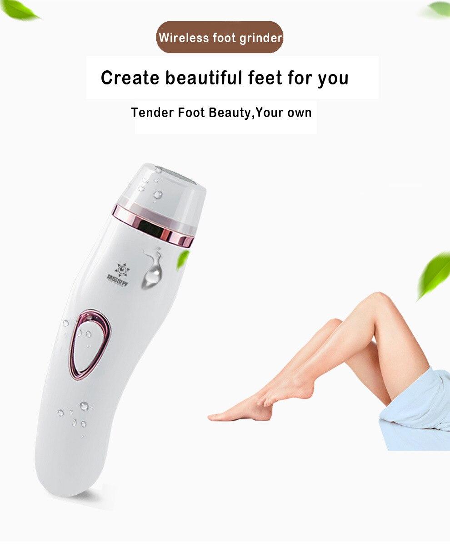 Electric foot grinder automatic peeling dead skin alluses pedicure foot heel wireless foot grinder