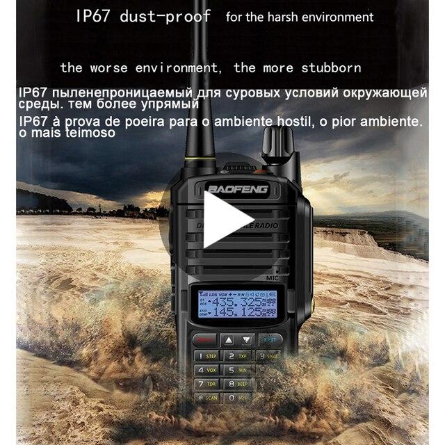 Baofeng UV 9R UV 9R UV9R artı su geçirmez Baofeng Walkie Talkie Ham VHF UHF radyo istasyonu IP67 alıcı verici Baofeng 10 w 10 km