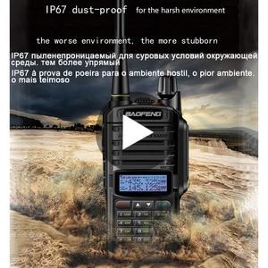 Image 1 - baofeng uv 9r uv 9r plus для рация 10 км 10 Вт cb водонепроницаемая автомобильная портативная рации ham радиостанция трансивер baufeng двухдиновая магнитола радиостанции boafeng радиолюбитель двухдиапазонная uhf vhf