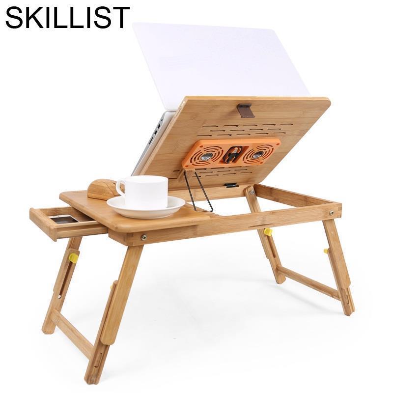 Portable Pliante Office Scrivania Ufficio Biurko Mesa Escritorio Bamboe Laptop Stand Bedside Study Desk Computer Table