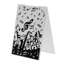 1Pcs Plastic Stencil Musical Note Embossing Folder Leaves Star Template For Scrapbooking DIY Album Card Decor