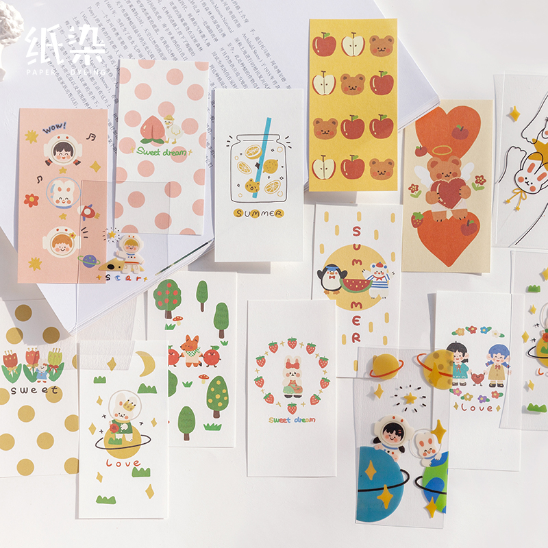 6packs/LOT Adorable Adorable Energy Series Lovely Cute Paper Plan Book Message Memo Pad