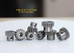 Engranaje de MOTOR para coche teledirigido, material metálico, orificio de 0,8 y 5mm, 32DP 1/8 1/10, 2 uds.