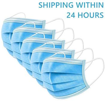 IN STOCK FAST SHIP Face Mouth Anti Dust Mask 100Pcs One time MASK  Disposable Elastic Mouth Soft Breathable Face Mask