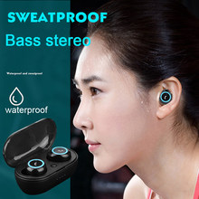 Bluetooth Noise Cancelling Wireless Bluetooth Headsets Earbuds Mini Stereo Earphones Headphones with Charging Case for xiaomi(China)