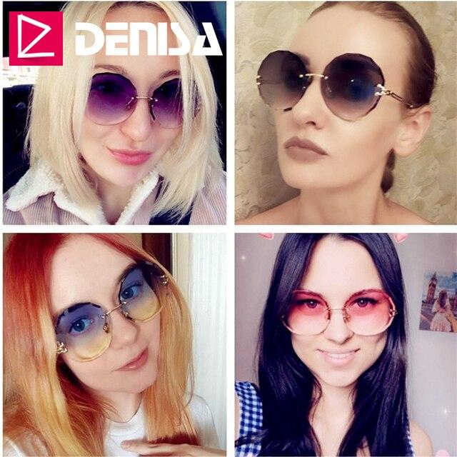 DENISA Rimless  Round Sunglasses  2