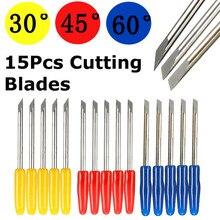 5 шт. 30/45/60 градусов виниловый гравировка станковые лезвия для резки ножа для CB09 виниловый плоттер ручка