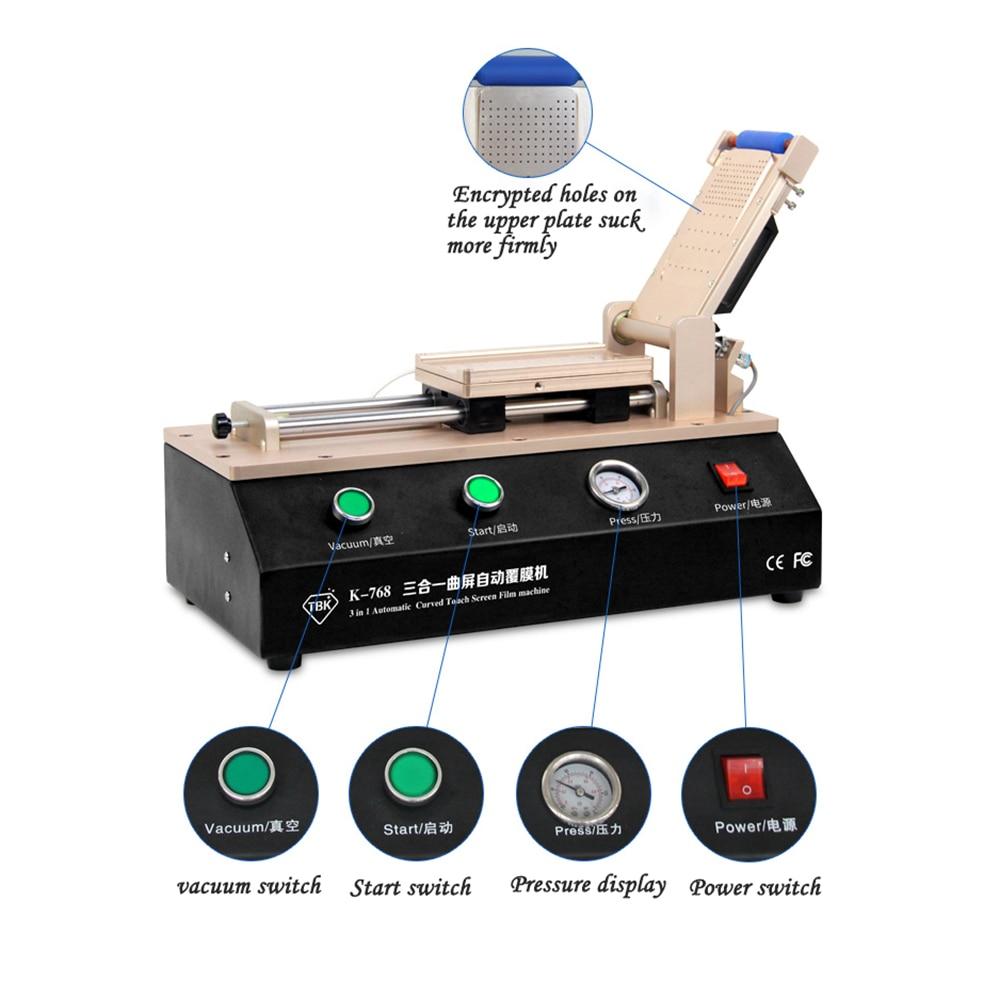 Купить с кэшбэком TBK-768 auto curved touch screen OCA film fitting machine for S6 S7 edge plus fitting machine for curved screen