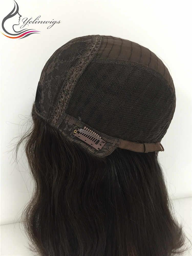 Wysoka gęstość 21 Cal 4 # kolor najlepsza klasa europejskie włosy żydowskie koszerne peruki dla żydowskich kobiet