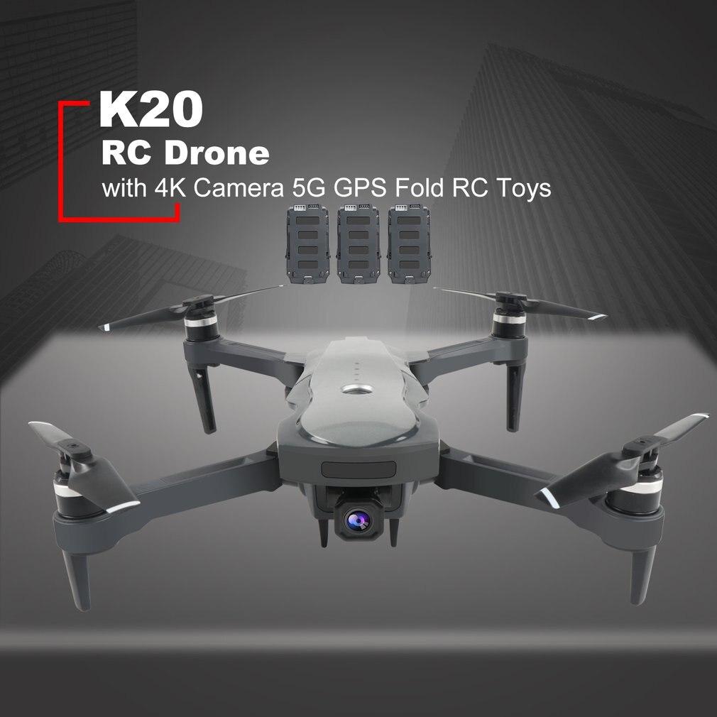 Tüketici Elektroniği'ten Kamera Dronlar'de K20 RC Drone ile 4K kamera ESC 5G GPS WiFi FPV fırçasız 1800m kontrol mesafesi katlanabilir RC helikopter uçak oyuncak title=