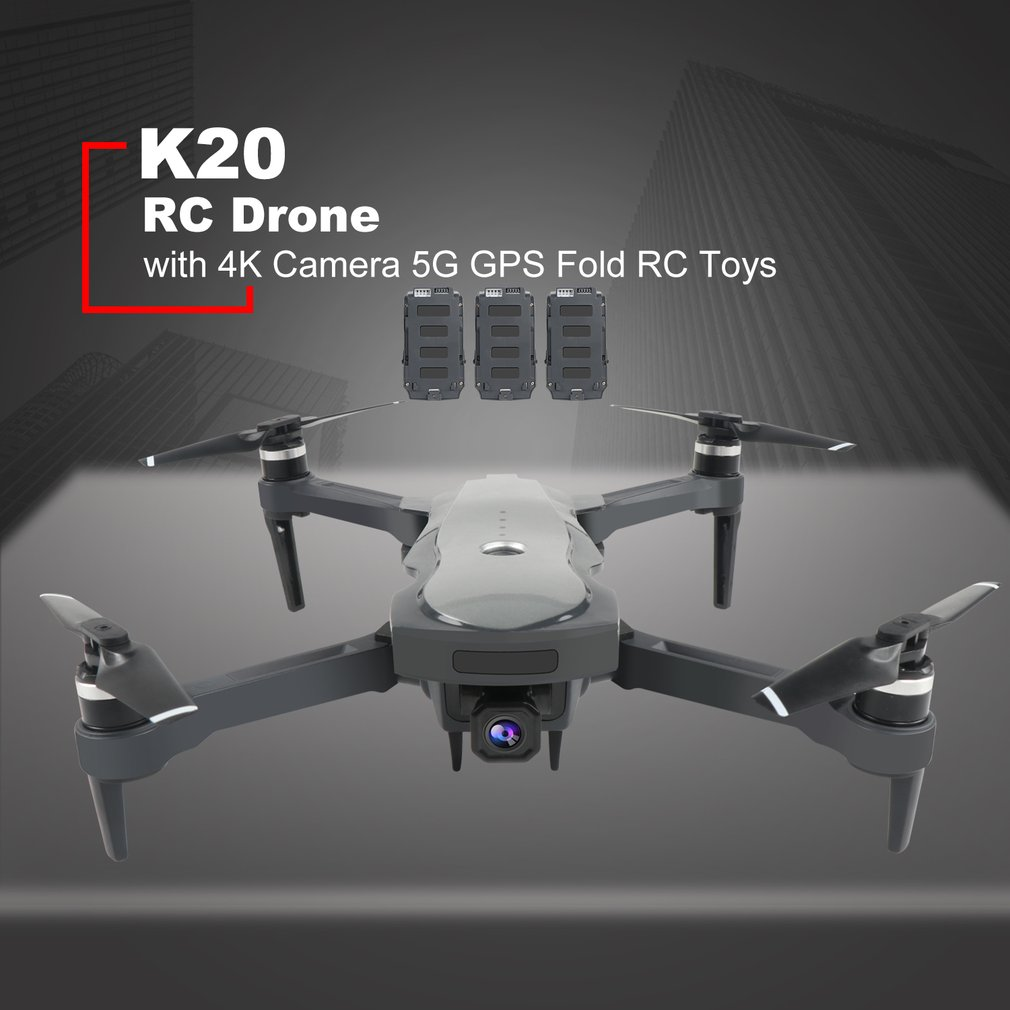 K20 RC <font><b>Drone</b></font> with 4K Camera ESC 5G <font><b>GPS</b></font> WiFi FPV Brushless 1800m Control Distance Foldable RC Helicopter Airplane Toys image