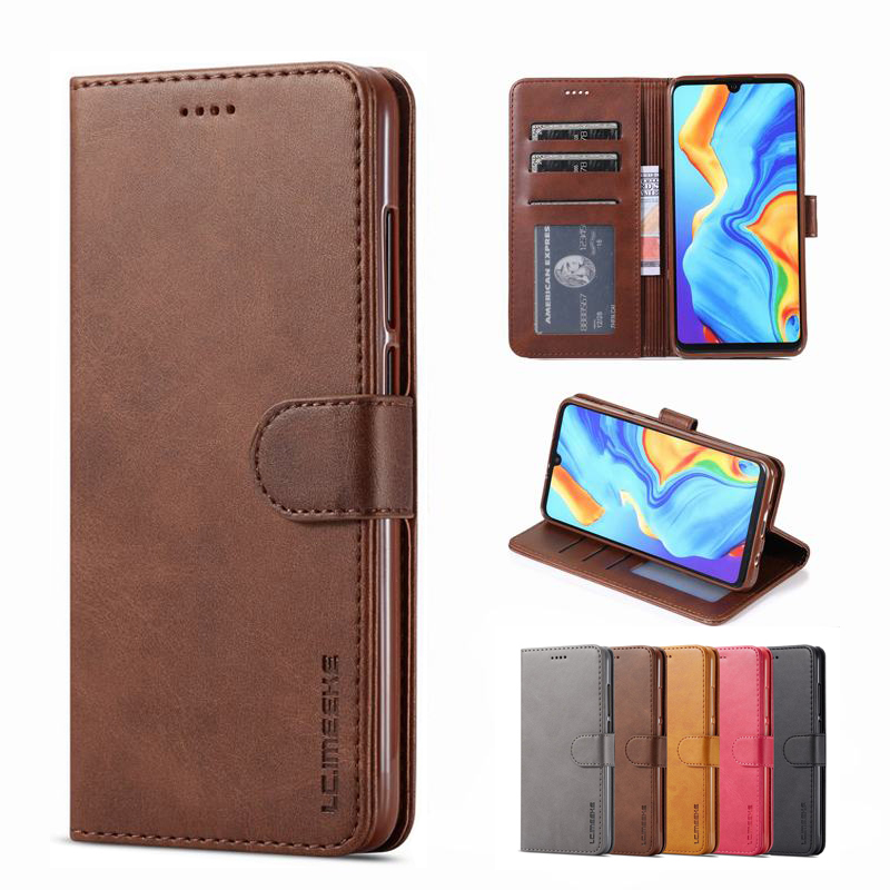 Case For Xiaomi Redmi 8 8A Cover Case Flip Magnetic Closure Luxury Stand Wallet Plain Leather Phone Bag On Xiomi Redmi 8 A Coque(China)