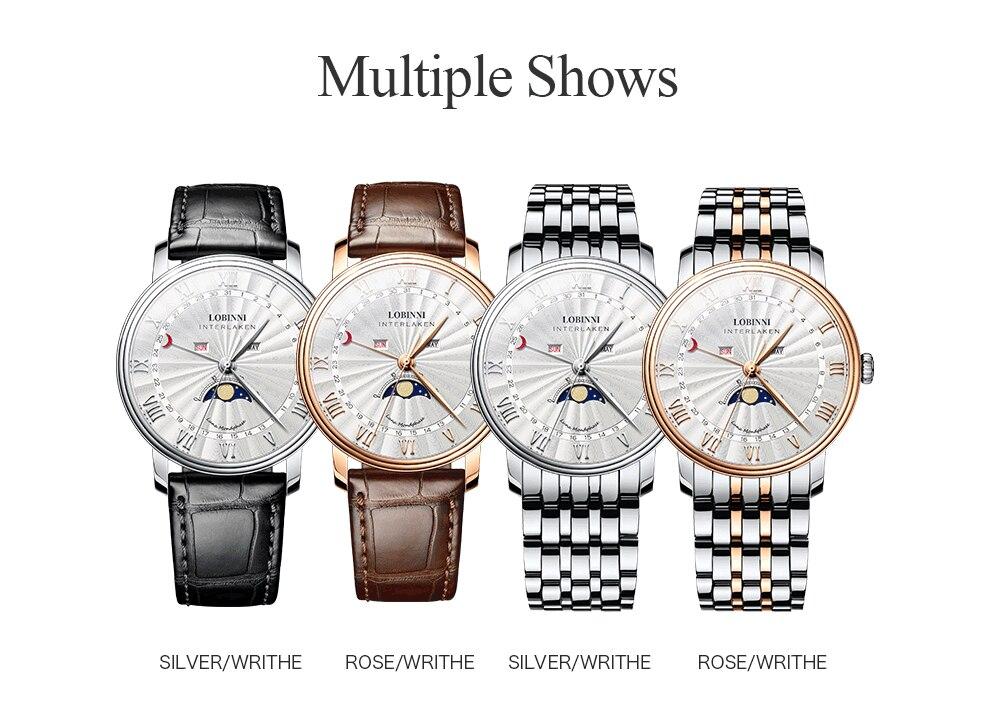 H82f83e5004be41abb464501d8dfb5805H Switzerland LOBINNI Men Luxury Brand Quartz Watch Men Sapphire Waterproof Moon Phase Japan Quartz Movement Male Wristwacth