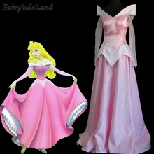Aurora Light Pink Dress Adult Women Halloween Costumes Cosplay Sleeping Beauty Outfit Custom Made(China)