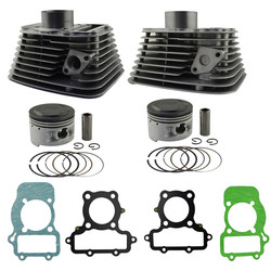 Motorcycle Engine Parts For YAMAHA XV250 XV 250 Front & Rear Air Cylinder Block & Piston Kit & Cylinder Head Gasket