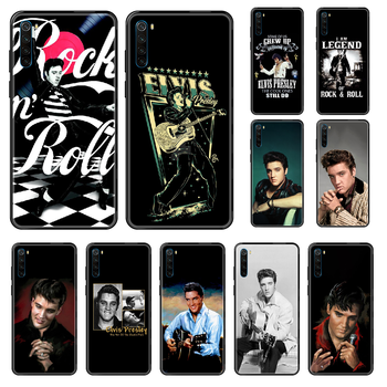 rock singer Elvis Presley Phone case For Xiaomi Redmi Note S2 4 5 6 7 8 A S X Plus Pro black silicone coque tpu waterproof art image