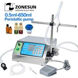 ZONESUN Peristaltische Pomp Fles Water Filler Vloeibare Flacon Desk-top Vulmachine voor Sap Drank Melk Drink Olie Parfum