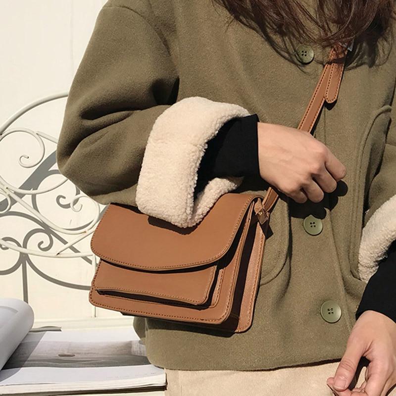 Droppshiping Women Mini Crossbody Bags Cell Phone Shoulder Bag PU Leather Purse Bag D88