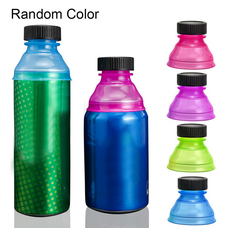 6Pcs Reusable Beverage Can Caps Cover Lids Snap On Camping Coke Soda Drink Saver