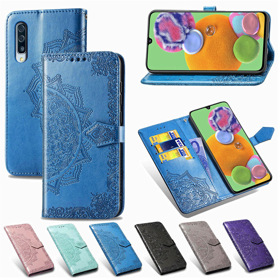 For <font><b>Samsung</b></font> A51 A71 A50 A70 A30 A40 A20 A10 A50S A80 A91 3D Datura Wallet Leather <font><b>Flip</b></font> <font><b>Case</b></font> For <font><b>Galaxy</b></font> <font><b>A6</b></font> A8 Plus A7 A9 <font><b>2018</b></font> image