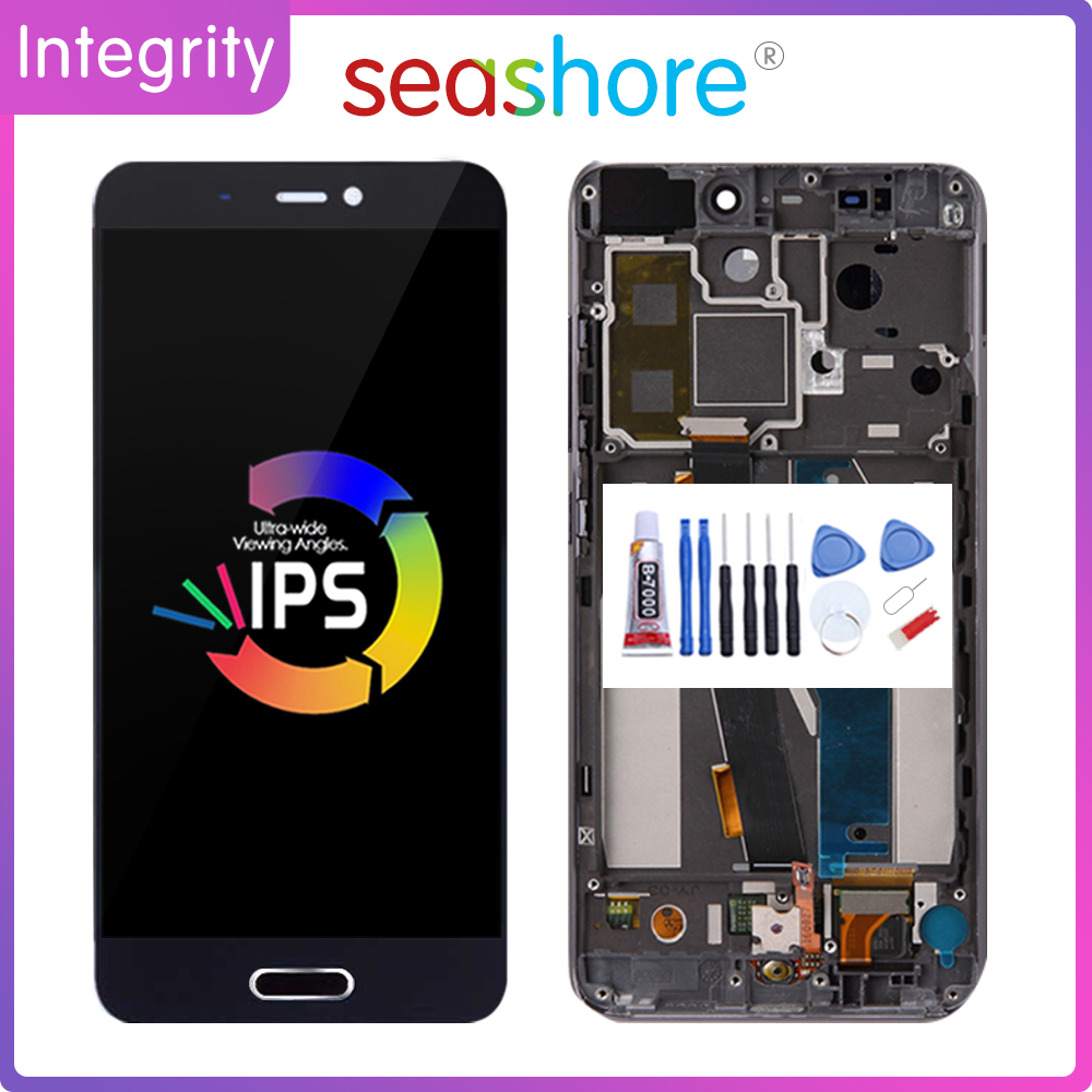 Original For <font><b>XIAOMI</b></font> MI 5 LCD <font><b>Display</b></font> Touch Screen Digitizer Assembly For <font><b>Xiaomi</b></font> <font><b>Mi5</b></font> <font><b>Display</b></font> with Fingerprint Frame Replacement image