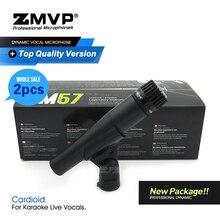 2 pces classificam um novo pacote! Sm57lc desempenho profissional instrumento dinâmico microfone com fio para karaoke vocais ao vivo tambor baixo