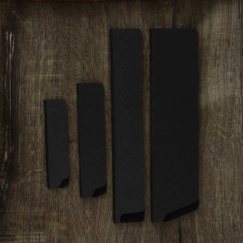 4 sztuk nóż pokrywa Pro krawędzi noża osłony ABS aksamitne ostrze przypadku Chef owoce Santoku krojenie noże pokrywa na wpół otwarte-pełne pokrycie