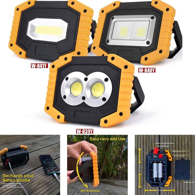 100W Led Портативный Точечный светильник COB 7000lm супер яркий светодиодный прожекторы световые светильник s Перезаряжаемые для приготовления пищи на воздухе лампе 18650 аварийной ситуации