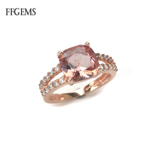 FFGems Elegant Zultanite Rings Real 925 Sterling Silver  Created Diaspore Color Change for Women Wedding Party Fine Jewelry