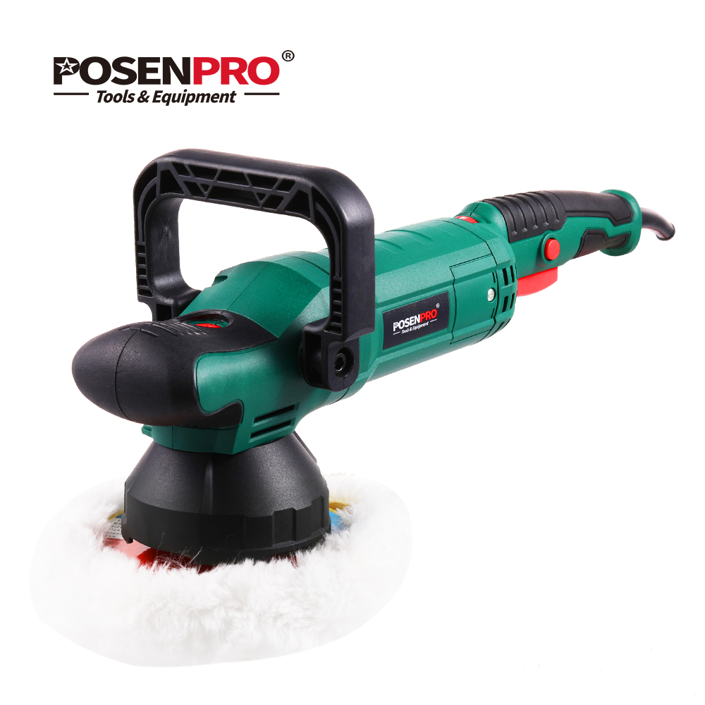 POSENPRO – polisseuse électrique à double Action, 6 pouces, 150mm, 900W, vitesse Variable, Machine à polir les chocs, tampon de polissage nettoyant