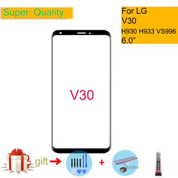 цена на For LG V30 H930 H930DS H931 H932 H933 VS996 LS998U Touch Screen Front Glass Panel Front Outer Glass Lens For LG V30 LCD Glass