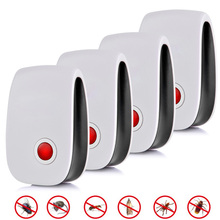 6 4 pcs Ultrasonic Anti Mosquito Killler Electronic Insect Reject Repeller Rat Mouse Cockroach Pest Repellent