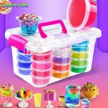 12 24 цвета diy Цветные Блоки градиентная прозрачная грязь разноцветные